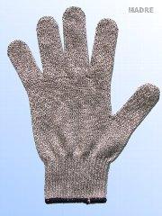 切創を防ぐ手袋。厚手の生地を使用しています。